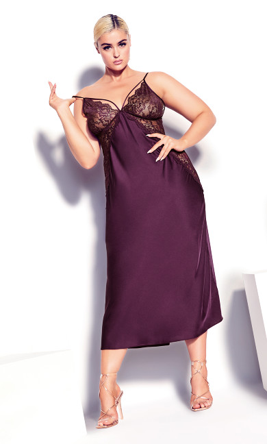 Slinky Long Nightie - amethyst