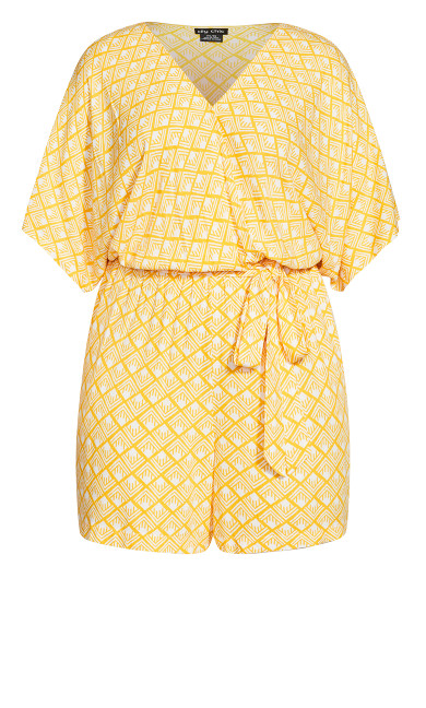 Geo Playsuit - golden