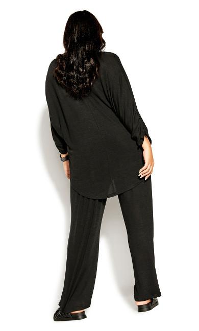 Soft Drawstring Top - black
