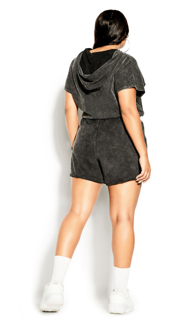 Soft Lounger Hoodie - washed black