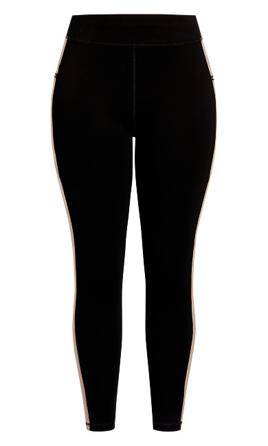 Splice Full Length Legging - black