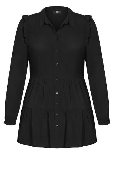 Ruffled Up Dress - black