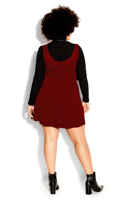 Check In Pini Dress - red