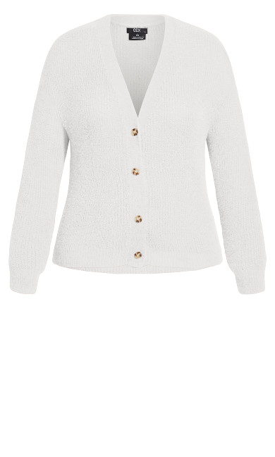 Fluffy Love Cardigan - ivory