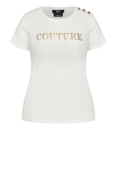 Couture Buttons Top - ivory