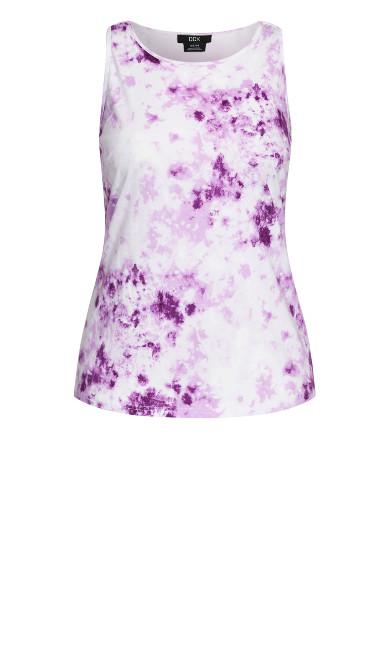 Cool Tie Dye Tank - lilac