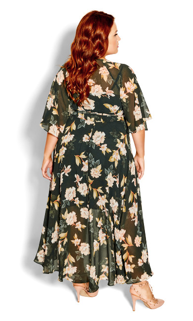 Deep Magnolia Maxi Dress - deep green