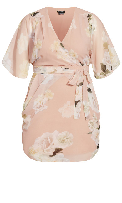 Ethereal Bloom Dress - rose bud