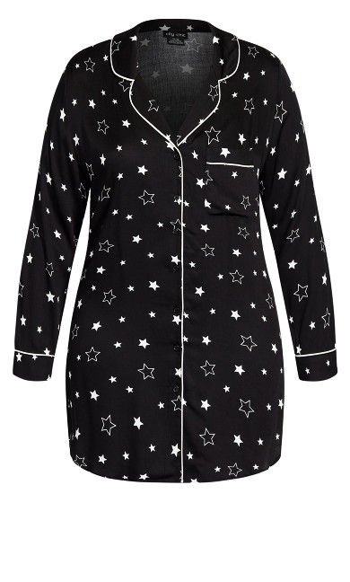 Galaxy Night Shirt - black