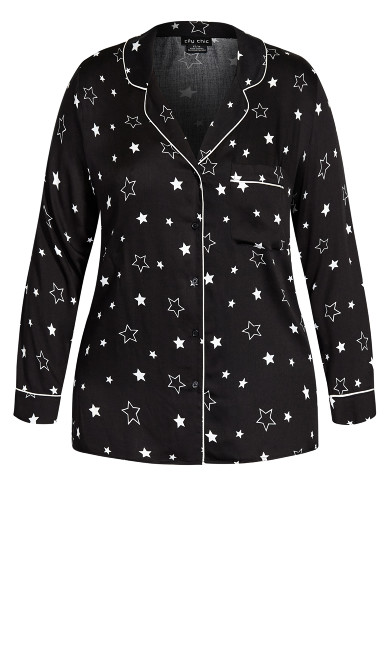 Galaxy Sleep Shirt - black
