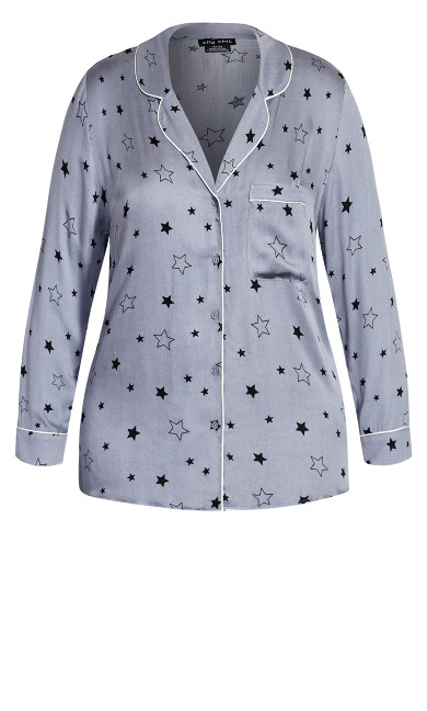 Galaxy Sleep Shirt - grey