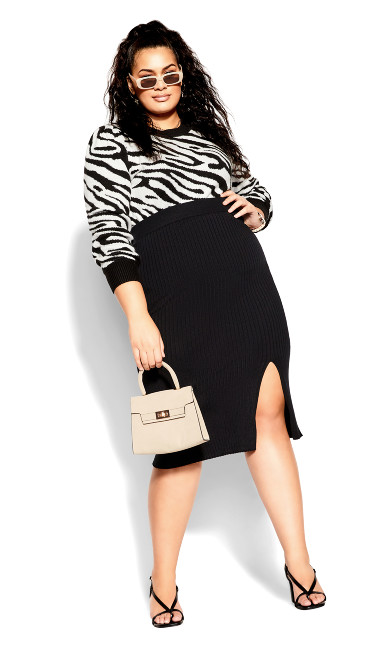Rib Obsession Skirt - black