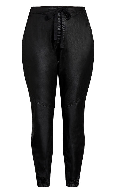 Wet Look Love Pant - black