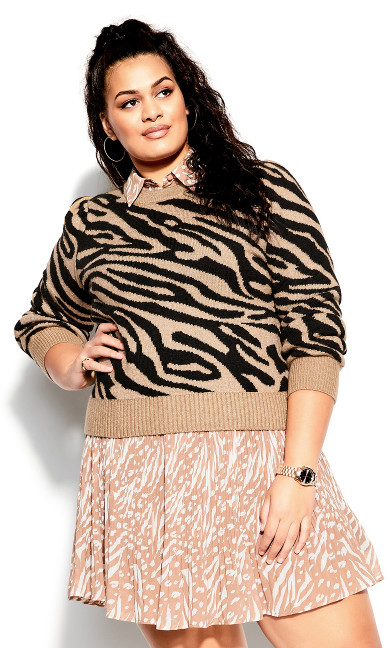 Tiger Love Jumper - sand