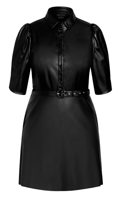 Wild Sleeve Dress - black
