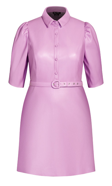 Wild Sleeve Dress - lilac