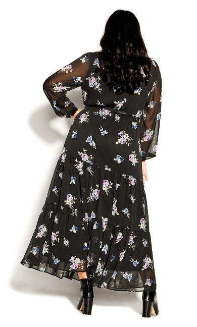 Wild Romance Maxi Dress - black