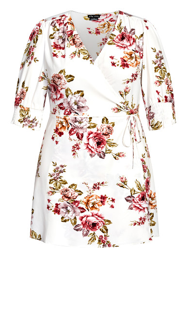 Rose Garden Dress - white