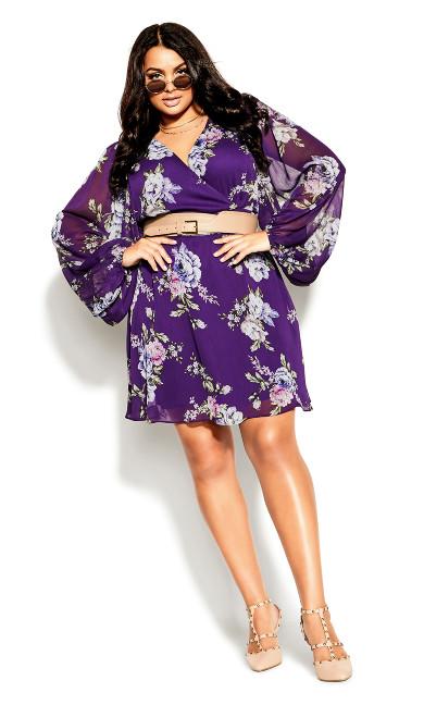 Wild Floral Dress - petunia