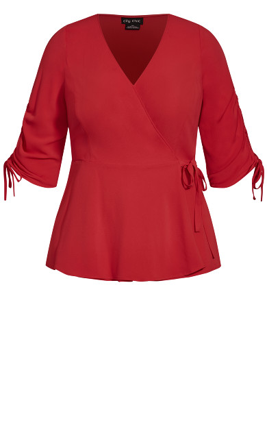 Wrap Lust Top - raspberry
