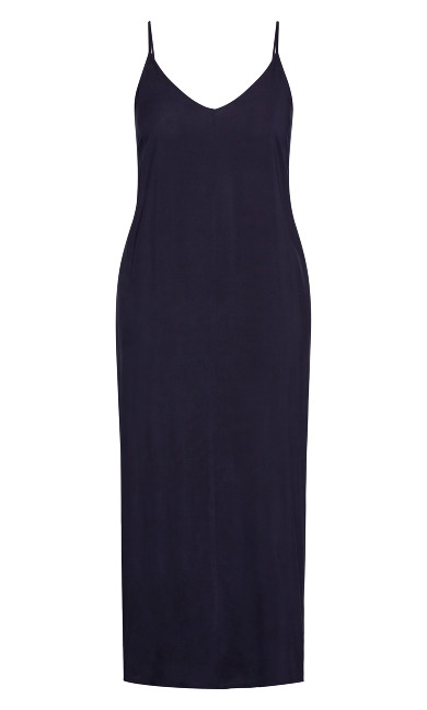 V Neck Maxi Dress - french navy