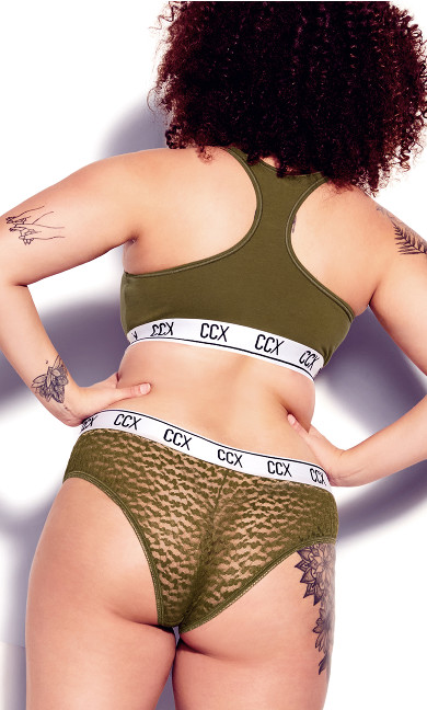 CCX Animal Lace Hipster - military