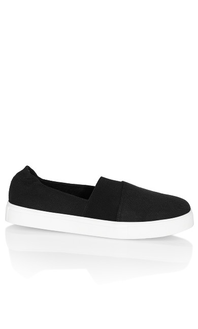 Plus Size Erin Sneaker - black