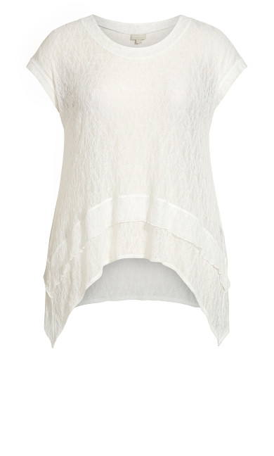 Lacy Layered Top - ivory