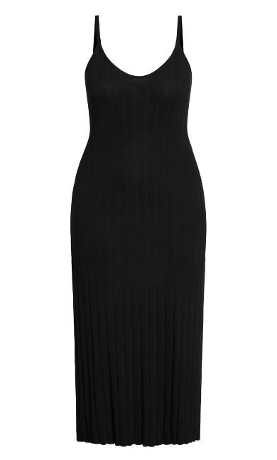 Luxe Knit Dress - black