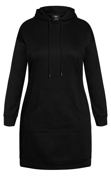 Hoodie Chillax Dress - black