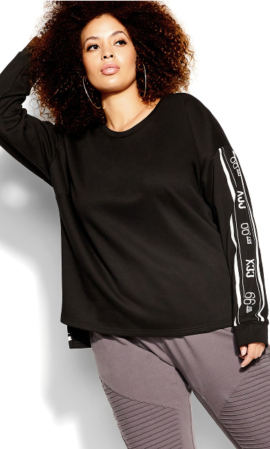 Chillax Sweat Top - black