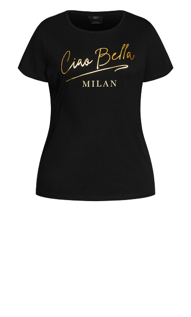 Gold Bella Tee - black