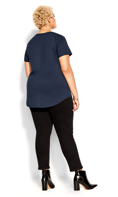 Luxe Lover Tee - navy