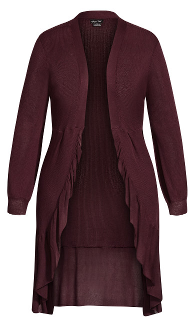 Harmony Cardigan - bordeaux