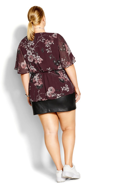 Blossom Love Top - bordeaux