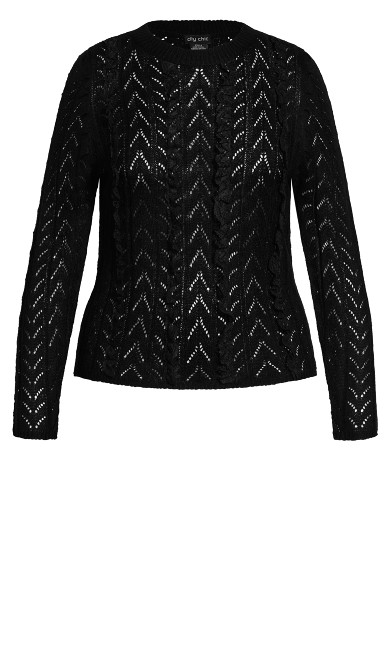 Bold Lace Jumper - black