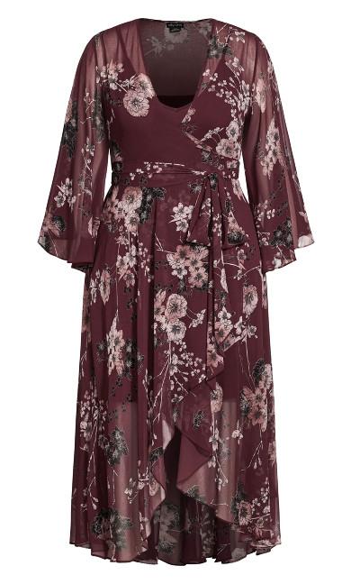 Bold Blossom Maxi Dress - bordeaux
