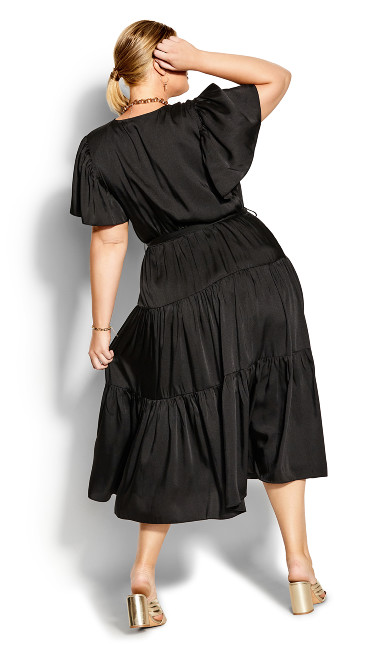 Tiered Sweetness Maxi Dress - black