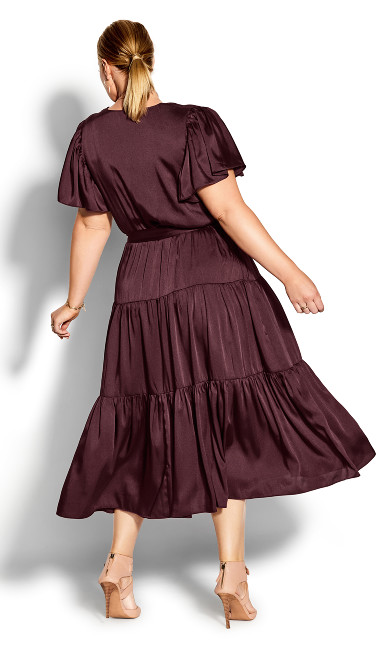 Tiered Sweetness Maxi Dress - bordeaux