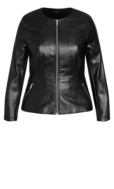 Sleek Zip Jacket - black