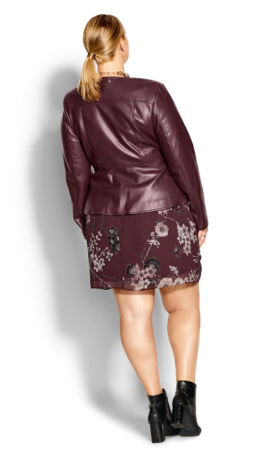 Sleek Zip Jacket - bordeaux