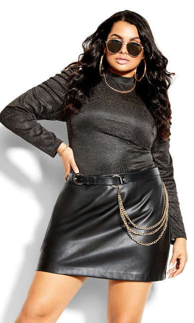 Glimmer Bodysuit - black