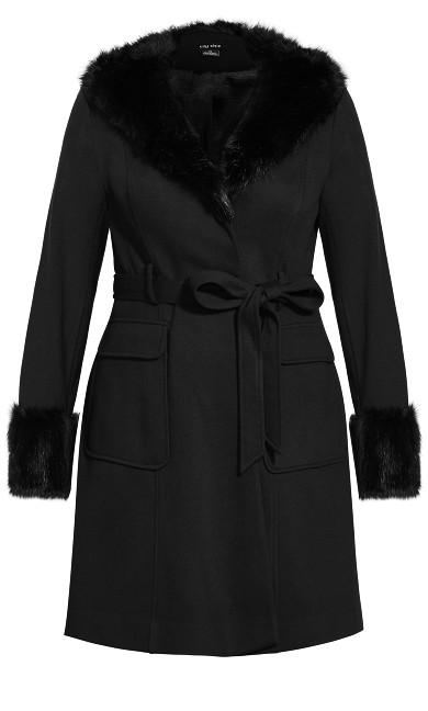 Make Me Blush Coat - black