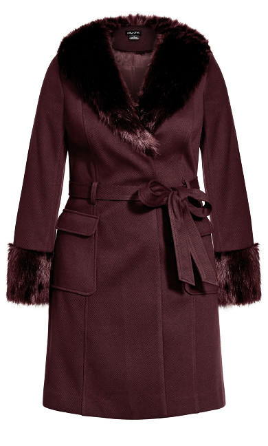 Make Me Blush Coat - bordeaux
