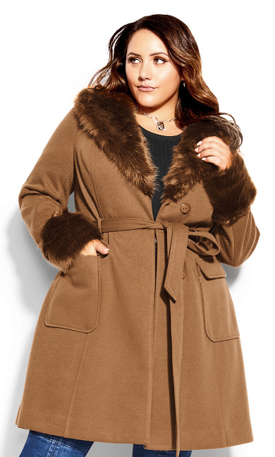 Make Me Blush Coat - caramel
