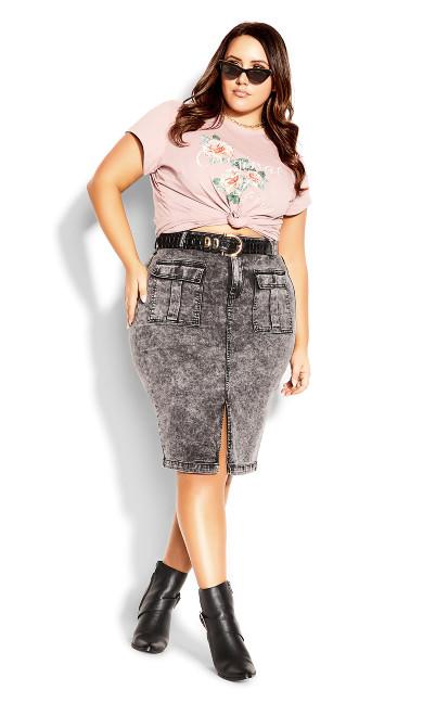 Midi Pockets Skirt - black