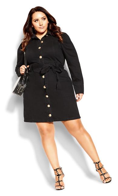 Royal Denim Dress - black