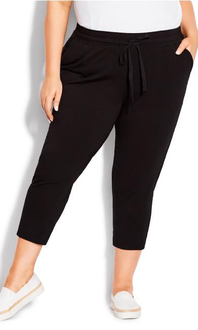 Plus Size Camila Cotton Rich Capri black