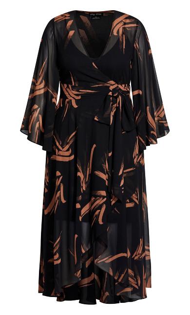 Fleetwood Swish Maxi Dress - black