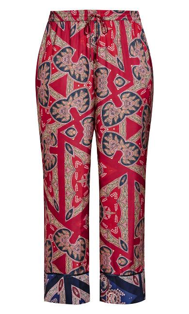 Prism Sleep Pant - ruby